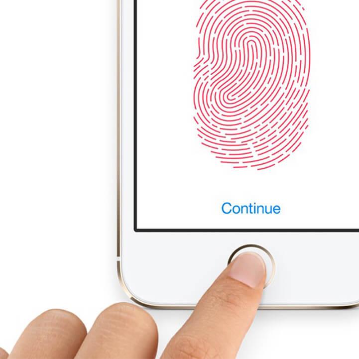 Biometric authentication by fingerprints
