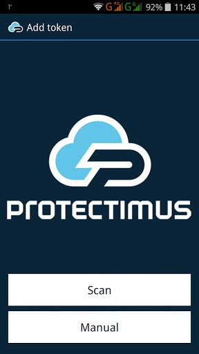 One-time password token Protectimus SMART for mobile authentication
