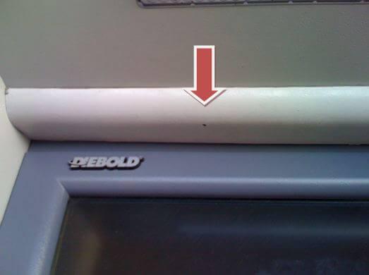ATM hidden camera for credit card fraud