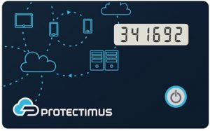 OTP token Protectimus Slim NFC for two-step authentication