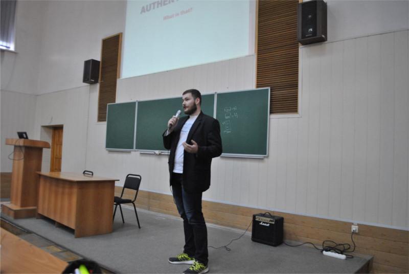 Protectimus Head of R&D Denys Shokotko speach on OWASP KNURE