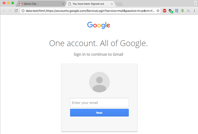Фишинг в Gmail