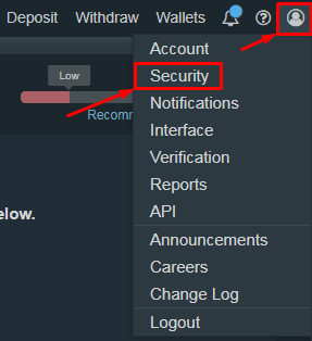 How to Enable Bitfinex 2FA with Protectimus Slim NFC