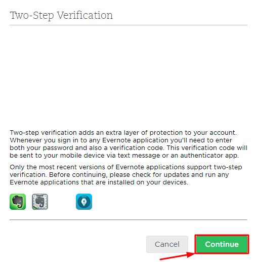 How to Enable Evernote 2FA with Protectimus Slim NFC