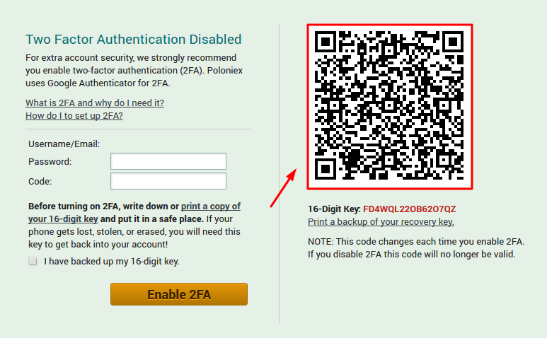 How to Enable Poloniex 2FA with Protectimus Slim NFC
