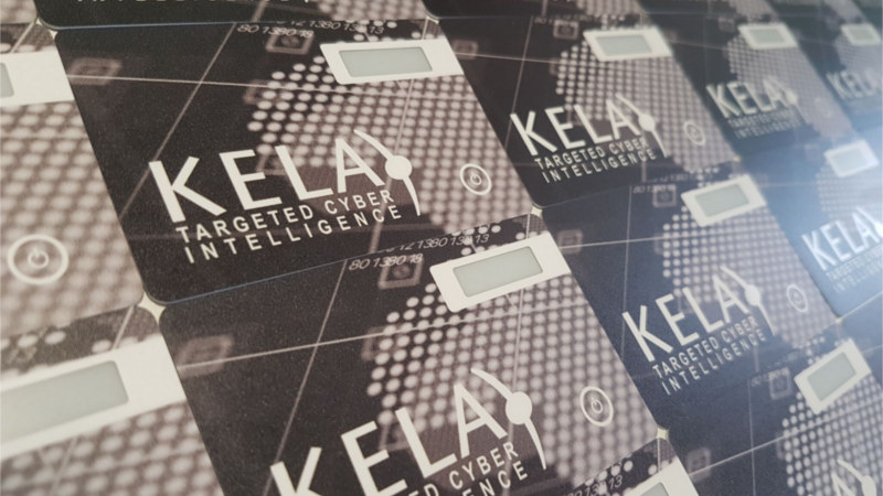 Programmable security key Protectimus Slim NFC with custom Branding for KELA