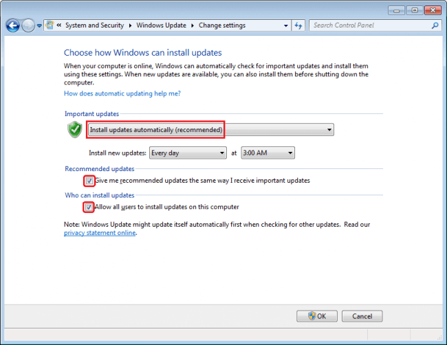 Windows Computer Safety Tips - Enable automatic Windows updates
