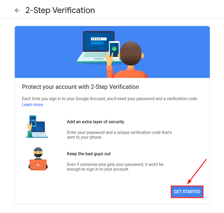 How to setup 2-step authentication in Gmail