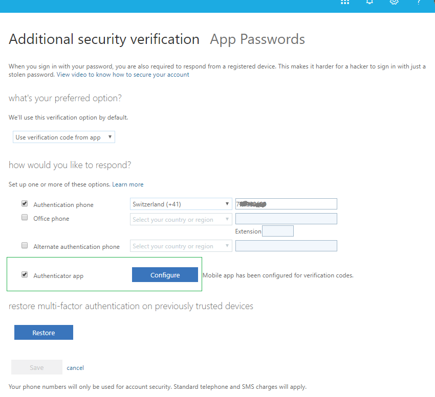 Office 365 2 factor authentication with hardware token Protectimus Slim NFC - how to add hardware token to Office 365 MFA
