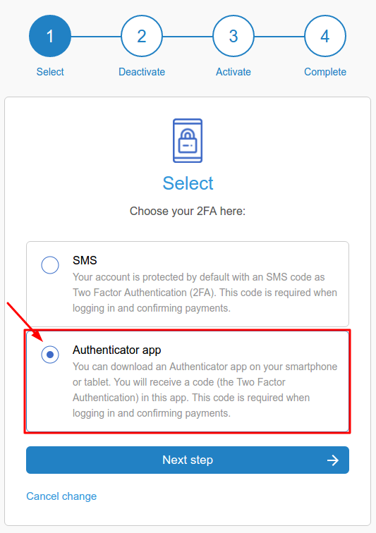 LiteBit 2FA with a hardware token Protectimus Slim NFC setup guide - Step 6