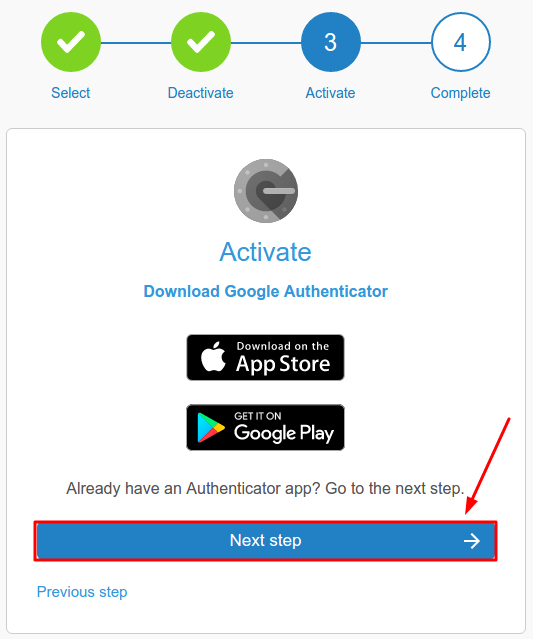 LiteBit 2FA with a hardware token Protectimus Slim NFC setup guide - Step 8