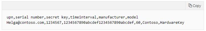 Pre-installed secret key in hardware TOTP token example