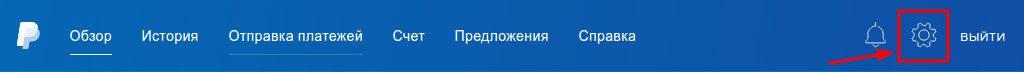 Двухфакторная аутентификация в PayPal - настройки