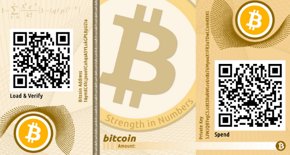 Paper crypto wallet