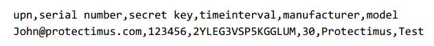 Как добавить аппаратные токены в Ажур - пример csv файла