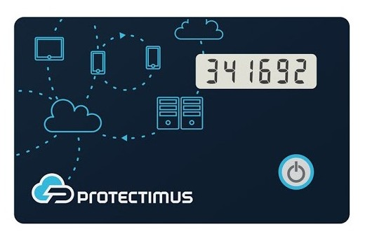 TOTP token Protectimus Slim NFC - the most reliable authenticator to protect the GSuite account you use for remote work