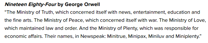 Passage from Nineteen Eighty-Four by George Orwell