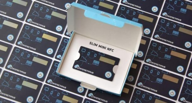 Hardware OTP token Protectimus Slim NFC - perfect for remote work security