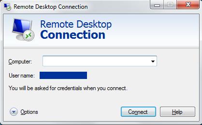 Remote work over remote desktop connection
