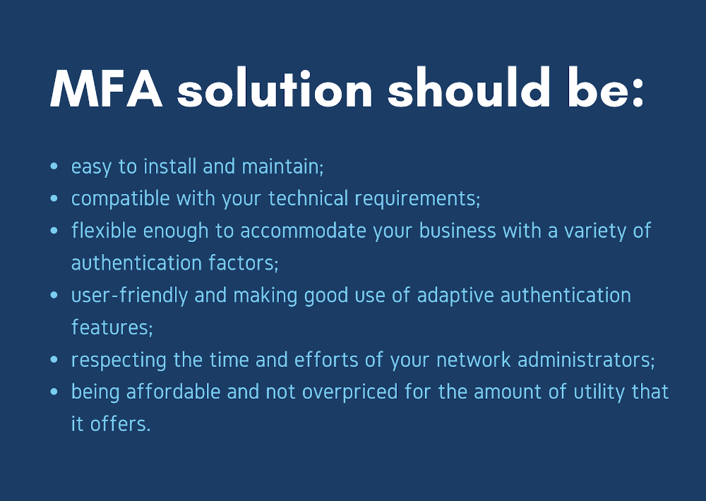 Your ideal MFA solution should look like this