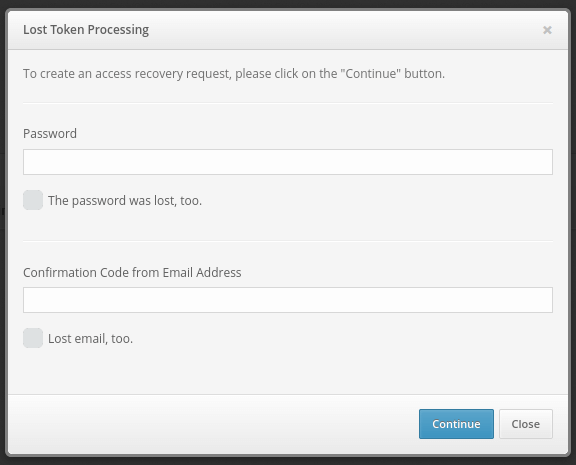 How to recover access to Protectimus Self Service Portal - step 2